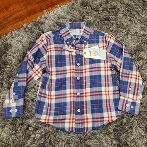 NWT Boy's Class Club Button Down Shirt size 4/5